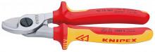 Knipex Kabelové nůžky izolované vícesložkovými návleky, certifikace VDE 165 mm