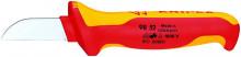 Knipex Kabelový nůž 185 mm, izolovaný do 1000 V