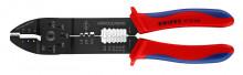 Knipex Lisovací kleště lakované na černo s vícesložkovými návleky 240 mm