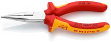 Knipex Půlkulaté kleště s břity chromované 160 mm, izolované do 1000 V