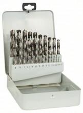 BOSCH Kovová kazeta s 25dílnou sadou vrtáků do kovu HSS-G, DIN 338, 135° - 1-13 mm, 135°