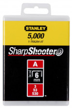 """STANLEY 4mm/5/32"""" Spony standardní 1000 ks typ A 5/53/530"""