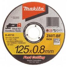 Makita TARCZA TNĄCA DO METALU/STALI NIERDZEWNEJ 0,8mm 125mm (PŁASKA)