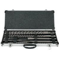 Makita sada vrtáků a sekáčů SDS-Plus v hliníkovém kufru, 10ks D-42385