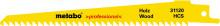 METABO - 5 plátků pro pily ocasky, dřevo, profes.,150x1,25 mm