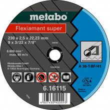METABO - Flexiamant super 115x2,0x22,23 ocel, TF 41, (616105000)