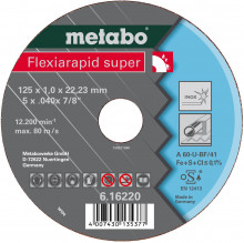 METABO - Flexiarapid super 125x0,8x22,23 inox, TF 42