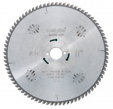 METABO - Pilový kotouč HW/CT 254x30, 80 PZ/LZ, 5°