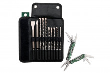 METABO Rolovací taška na nářadí SDS-plus Pro 4 vrtáky / sekáče 10dílná, set (631690000)