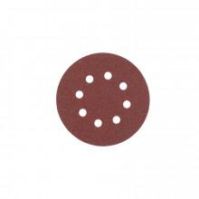 Milwaukee Brusný papír – Suchý zip (8 otvorů) Ø125 zrn. 80  5 ks