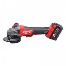 Milwaukee M18 CAG115XPDB-502X Aku bruska RAPIDSTOP 115 mm, 2 x 5.0Ah