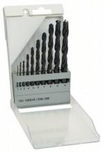 BOSCH Sada vrtáků do kovu HSS-R, 10dílná, DIN 338 - 1; 2; 3; 4; 5; 6; 7; 8; 9; 10 mm