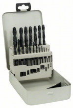 BOSCH Sada vrtáků do kovu HSS-R v kovové kazetě, 19dílná, DIN 338 - 1-10 mm