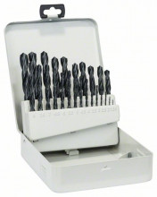 Bosch Kovová kazeta, 25-dielna súprava vrtákov do kovu, HSS-R, DIN 338