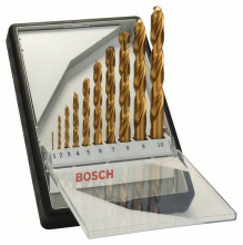 Bosch 10-dielna súprava vrtákov do kovu Robust Line HSS-TiN, 135°