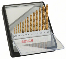 BOSCH Sada vrtáků do kovu Robust Line HSS-TiN, 13dílná, 135° - 1,5; 2; 2,5; 3; 3,2; 3,5; 4; 4,5; 4,8; 5; 5,5; 6; 6,5 mm, 135°
