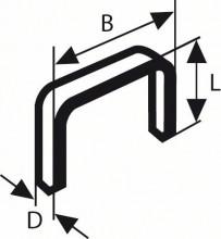 BOSCH Sponky do sponkovačky z tenkého drátu, typ 58 - 13 x 0,75 x 14 mm