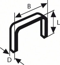 BOSCH Sponky do sponkovačky z tenkého drátu, typ 59 - 10,6 x 0,72 x 8 mm