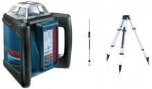 Stavební rotační laser + stativ + měřicí lať BOSCH GRL500 HV set + BT170HD + GR240
