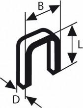 BOSCH Úzké sponky do sponkovačky, typ 55 - 6 x 1,08 x 18 mm