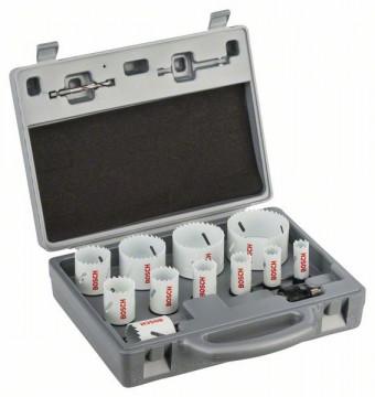 Bosch 11dílná sada děrovek Progressor 19. 22. 25. 29. 35. 38. 44. 51. 57. 64. 76 mm