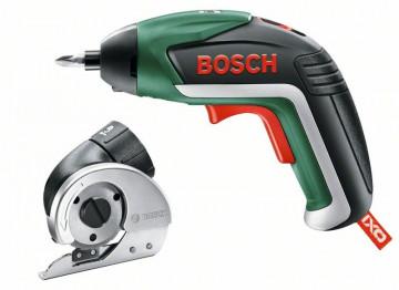 Akumulátorový šroubovák lithium-iontový Bosch IXO Cutter Set – suniverzálním řezacím nástavcem