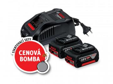Akumulátor + nabíječka BOSCH 2x GBA 18V 5,0Ah +…