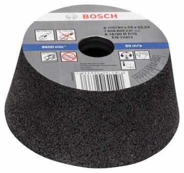 BOSCH Brusný hrnec, kónický - kov/litina,  90 mm, 110 mm, 55 mm, 16, 1608600231