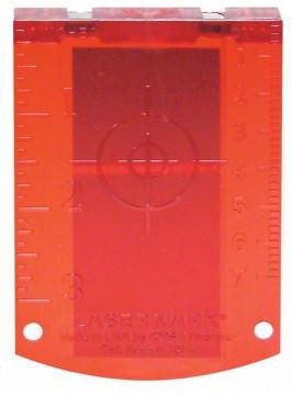 Cílová destička Bosch Cílová destička laseru (červená) Professional