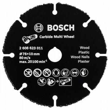 Rozbrušovací kotouč ztvrdokovu Multi Wheel 76 mm; 1 mm; 10 mm BOSCH 2608623011