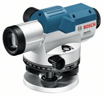 Optický nivelační přístroj + stativ + měřicí lať BOSCH GOL 26 G Professional + BT 160 + GR 500 061599400C