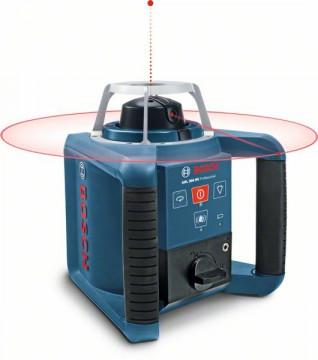 Stavební rotační laser + stativ + měřicí lať BOSCH GRL 300 HV set + BT 300 HD + GR 240 061599403Y