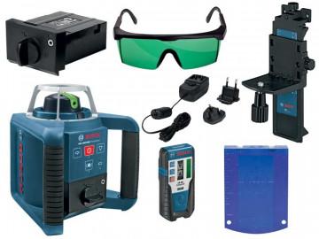 Stavební rotační laser + přijímač LR 1G BOSCH GRL 300 HVG Set Professional 0601061701