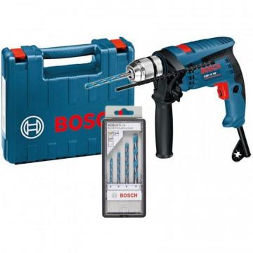 Bosch GSB 13 RE Příklepová vrtačka + 4-dílná sada vrtáků + kufr0601217103