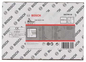 Hřebíky s kulatou hlavou v pásu SN21RK 60 2,8 mm, 60 mm, bez povrchové úpravy, hladký BOSCH 2608200028