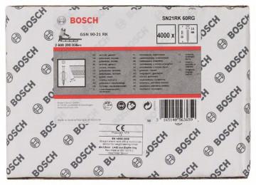 Hřebíky s kulatou hlavou v pásu SN21RK 60RG 2,8 mm, 60 mm, pozinkovaný, drážkovaný BOSCH 2608200036