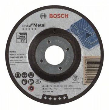 Hrubovací kotouč profilovaný Best for Metal A 2430 T BF, 115 mm, 7,0 mm BOSCH 2608603532