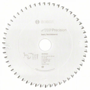 Pílový kotúč do okružných píl Top Precision Best for Multi Material 210 x 30 x 2,3 mm, 54 BOSCH 2608642096