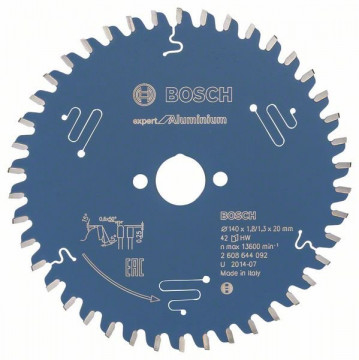 Pilový kotouč Expert for Aluminium 140 x 20 x 1,8 mm, 42 BOSCH 2608644092