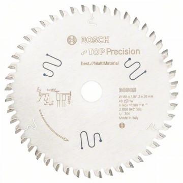 Pilový kotouč do okružních pil Top Precision Best for Multi Material 165 x 20 x 1,8 mm, 48 BOSCH 2608642388