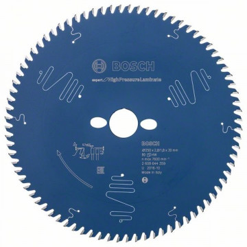 Pilový kotouč Expert for High Pressure Laminate 250x30x2.8/1.8x80 T BOSCH 2608644359