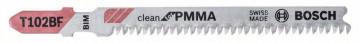 Pilový plátek do kmitací pily T 102 BF Clean for PVC BOSCH 2608636780