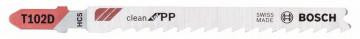 Pilový plátek do kmitací pily T 102 D Clean for PP BOSCH 2608667443