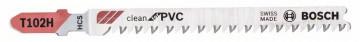 Pilový plátek pro kmitací pily T 102 H Clean for PVC BOSCH 2608667445