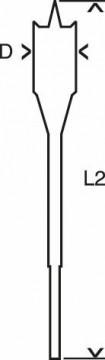 Plochý frézovací vrták Self Cut Speed, šestihran 6 x 400 mm BOSCH 2608595400