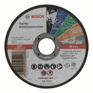 Dělicí kotouč rovný Rapido Multi Construction ACS 60 V BF, 115 mm, 1,0 mm BOSCH 2608602384