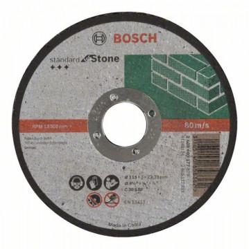 Dělicí kotouč rovný Standard for Stone C 30 S BF, 115 mm, 22,23 mm, 3,0 mm BOSCH 2608603177