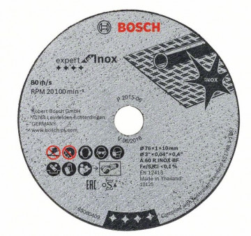 Řezný kot. EXPERT FOR INOX 76x1x10mm BOSCH…