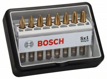 8dílná sada šroubovacích bitů, Robust Line, Sx Max Grip 49 mm, 8dílná sada BOSCH 2607002570