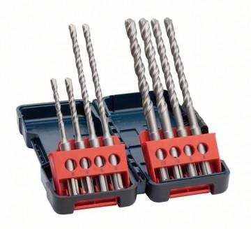 Bosch 8dílná sada vrtáků do kladiv SDS-Plus-3, pevný box 2607019903